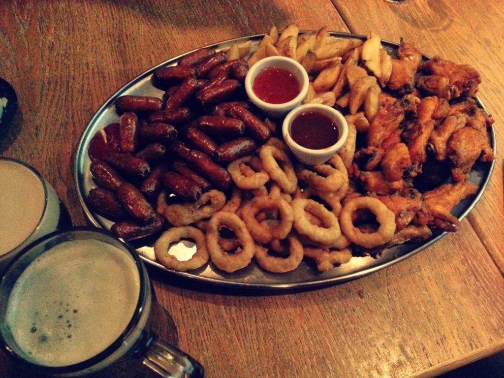 free platter at Trinity bar sports bar Dublin